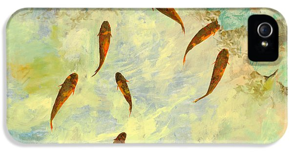 Koi iPhone 5 Case - Sei Pesciolini Verdi by Guido Borelli
