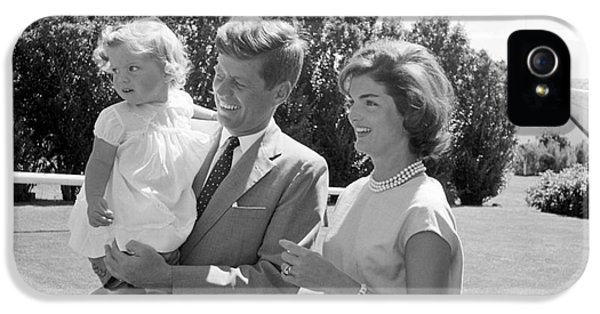 Senator John F. Kennedy With Jacqueline And Caroline IPhone 5 Case by The Harrington Collection