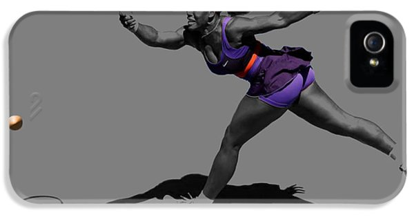 Serena Williams iPhone 5 Case - Serena Williams Getting It Done by Brian Reaves