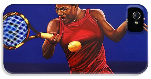 Serena Williams Painting IPhone 5 Case by Paul Meijering