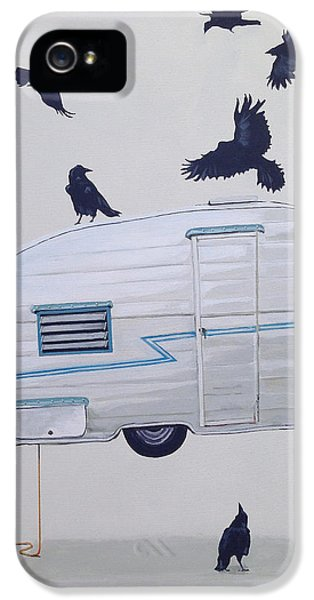 Seven Crows And A Canned Ham IPhone 5 Case by Jeffrey Bess