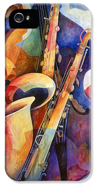 Saxophone iPhone 5 Case - Sexy Sax by Susanne Clark