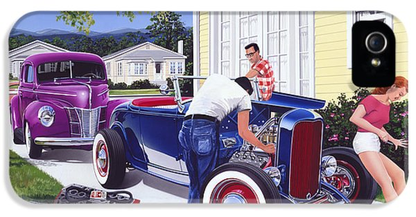 Shade Tree Mechanic IPhone 5 Case by Bruce Kaiser