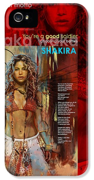 Shakira Art Poster IPhone 5 / 5s Case by Corporate Art Task Force