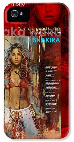 Shakira Art Poster IPhone 5 Case
