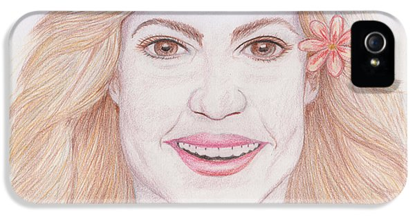 Shakira IPhone 5 / 5s Case by M Valeriano