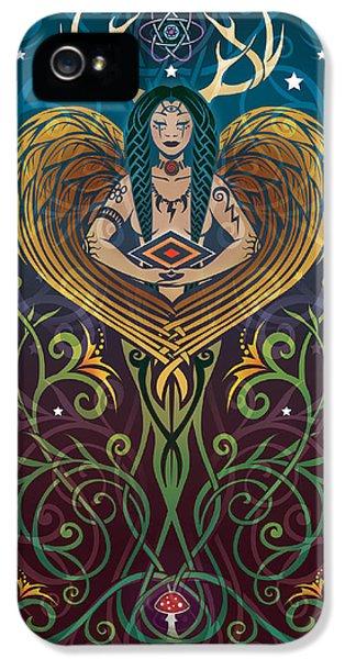 Shaman V.2 IPhone 5 Case by Cristina McAllister