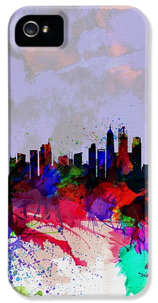 Shanghai Watercolor Skyline IPhone 5 Case