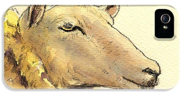 Sheep Head Study IPhone 5 / 5s Case by Juan  Bosco