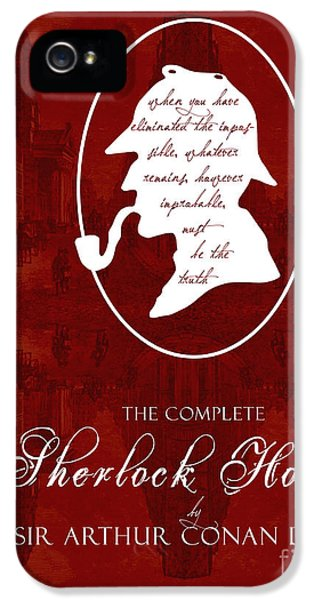 Sherlock Holmes Book Cover Poster Art 1 IPhone 5 Case by Nishanth Gopinathan