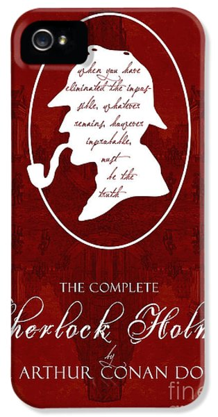 Sherlock Holmes Book Cover Poster Art 2 IPhone 5 Case by Nishanth Gopinathan