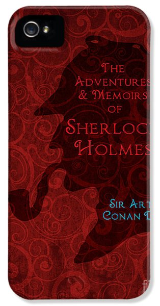 Sherlock Holmes Book Cover Poster Art 3 IPhone 5 Case by Nishanth Gopinathan