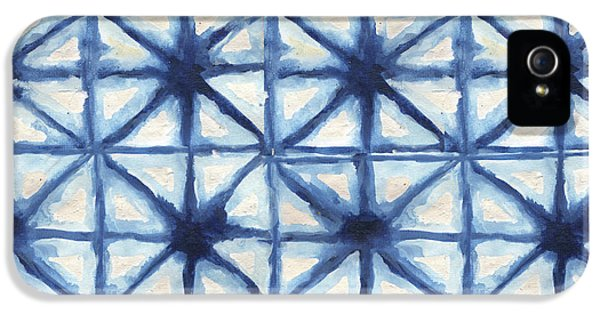 Shibori Iv IPhone 5 Case by Elizabeth Medley