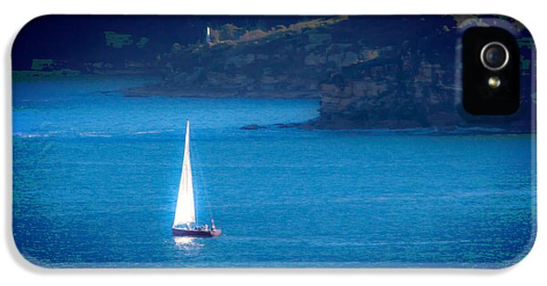 IPhone 5 Case featuring the photograph Shimmer Of The White Sail by Miroslava Jurcik