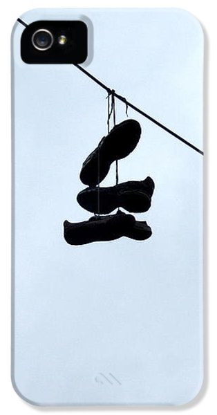 IPhone 5 Case featuring the photograph Shoes On The Line by Marc Philippe Joly