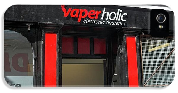 Shop Selling Electronic Cigarettes IPhone 5 Case by Robert Brook