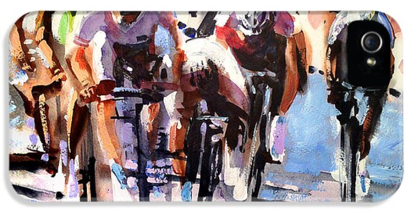 Bicycle iPhone 5 Case - Short Sharp Sprint by Shirley  Peters
