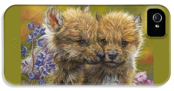 Siblings IPhone 5 Case by Lucie Bilodeau