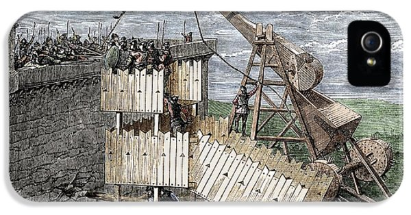 Constituent iPhone 5 Case - Siege With Trebuchet And Greek Fire by Sheila Terry