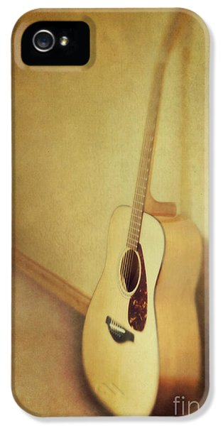 Silent Guitar IPhone 5 Case by Priska Wettstein
