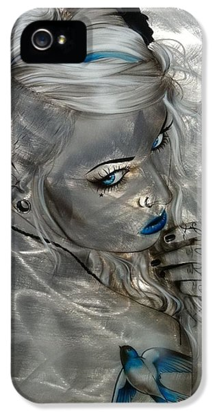 Swallow iPhone 5 Case - Silver Flight by Christian Chapman Art