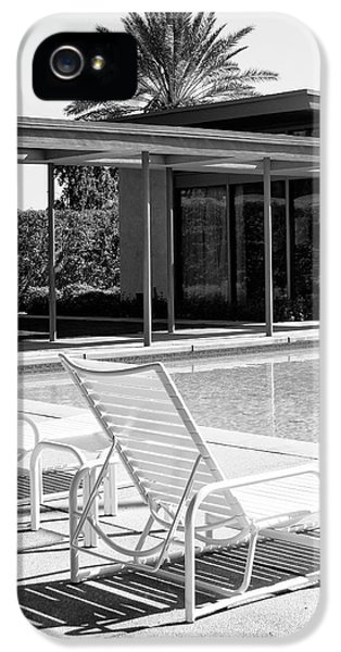 Sinatra Pool Bw Palm Springs IPhone 5 Case