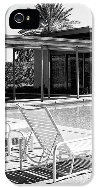 Sinatra Pool Bw Palm Springs IPhone 5 Case by William Dey