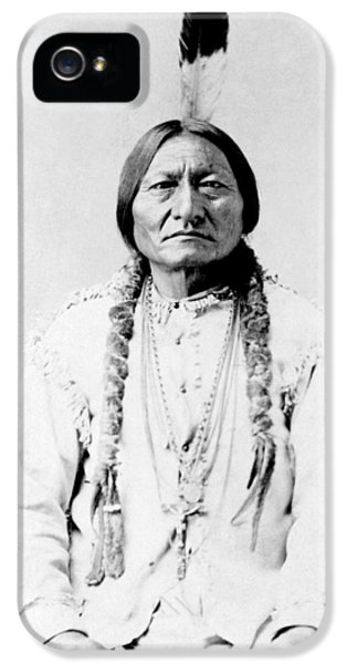 Bull iPhone 5 Case - Sioux Chief Sitting Bull by War Is Hell Store