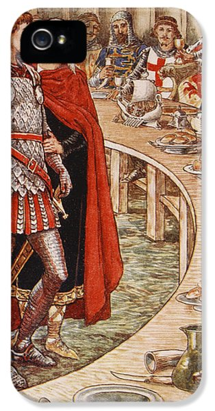 Sir Galahad Is Brought To The Court Of King Arthur IPhone 5 Case by Walter Crane