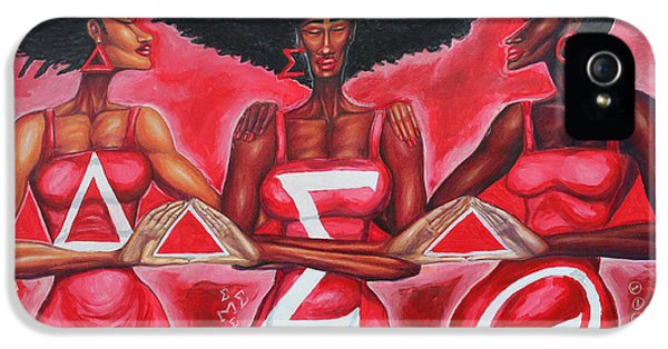Sisterly Love Delta Sigma Theta IPhone 5 Case by The Art of DionJa'Y