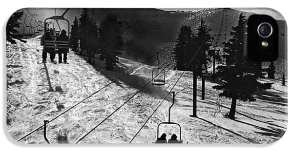Ski Lifts At Squaw Valley In California IPhone 5 Case