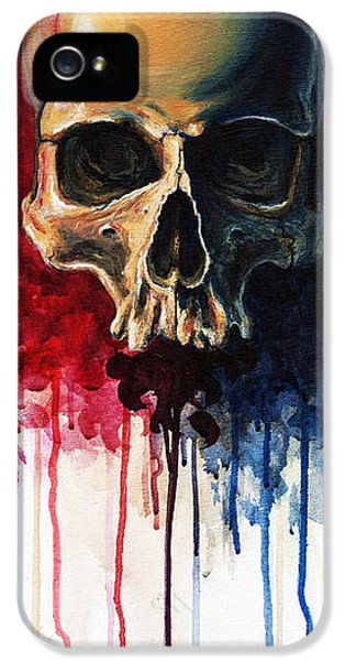 Skull IPhone 5 Case by David Kraig