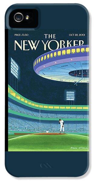 Yankee Stadium iPhone 5 Case - Sky Box by Bruce McCall