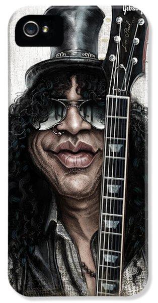 Musician iPhone 5 Case - Slash by Andre Koekemoer