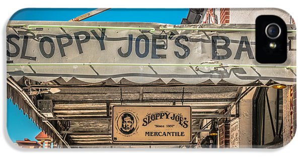 Sloppy Joe's Bar Canopy Key West - Hdr Style IPhone 5 Case