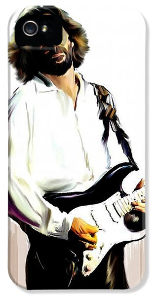 Eric Clapton iPhone 5 Case - Slow Hand  Eric Clapton by Iconic Images Art Gallery David Pucciarelli