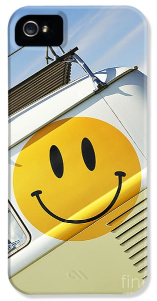 Smiley Face Vw Campervan IPhone 5 Case by Tim Gainey
