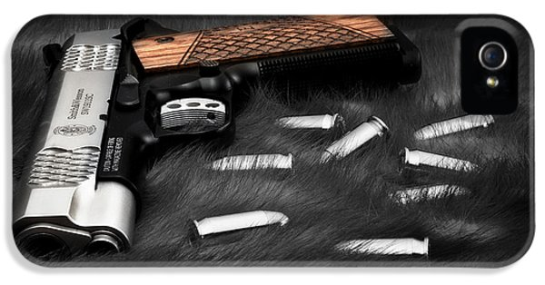 Smith And Wesson 1911sc Still Life IPhone 5 Case by Tom Mc Nemar