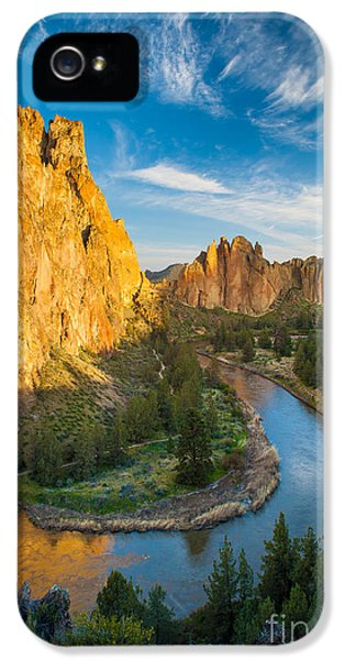 Smith Rock River Bend IPhone 5 Case by Inge Johnsson