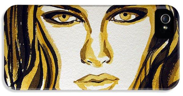 Smokey Eyes Woman Portrait IPhone 5 Case by Patricia Awapara