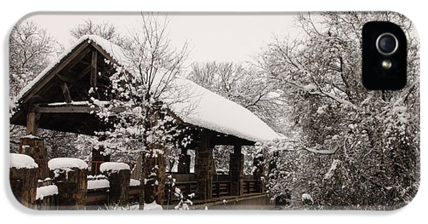 Snow Covered Bridge IPhone 5 Case by Robert Frederick