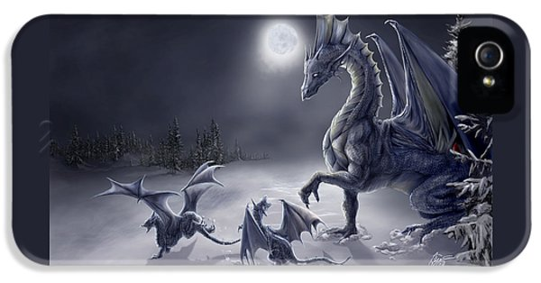 Dragon iPhone 5 Case - Snow Day by Rob Carlos