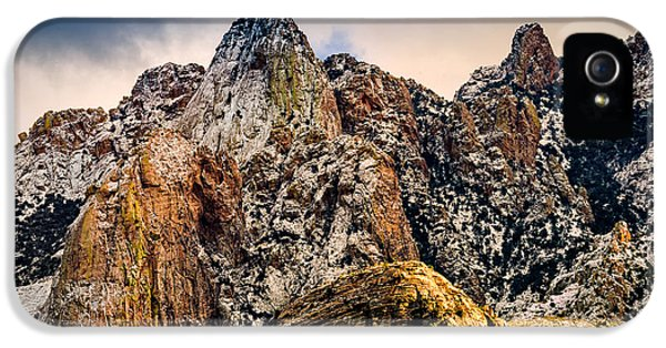 IPhone 5 Case featuring the photograph Snow On Peaks 45 by Mark Myhaver
