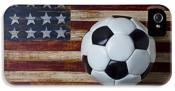 Soccer Ball And Stars And Stripes IPhone 5 Case by Garry Gay