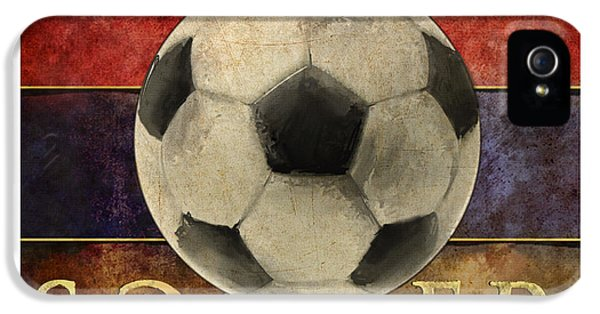 Soccer Poster IPhone 5 Case by Craig Tinder