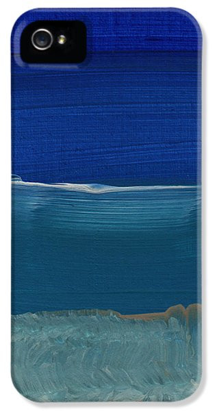 Soft Crashing Waves- Abstract Landscape IPhone 5 Case by Linda Woods