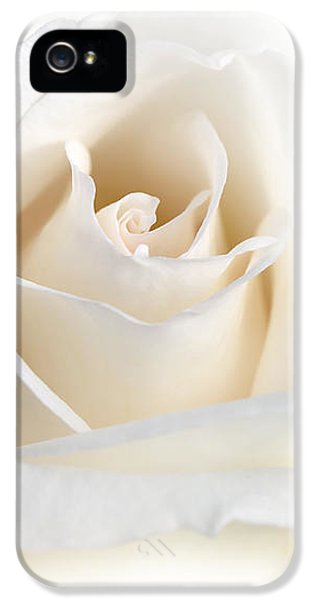 Soft Ivory Rose Flower IPhone 5 Case by Jennie Marie Schell