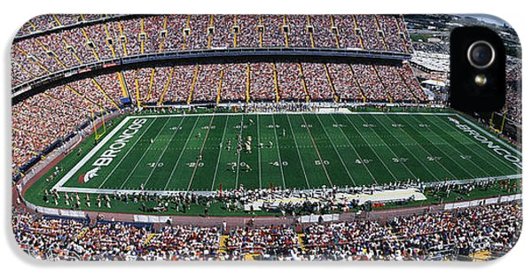 Sold Out Crowd At Mile High Stadium IPhone 5 Case by Panoramic Images