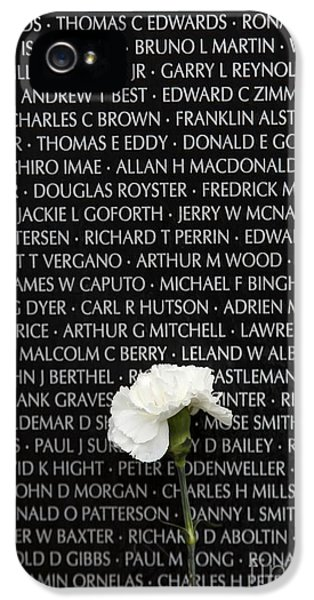 Some Gave All - Vietnam Veterans Memorial IPhone 5 Case by Edward Fielding