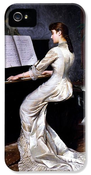 Song Without Words, Piano Player, 1880 IPhone 5 Case